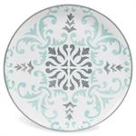 Assiette plate en faïence bleue/grise HECTORINE