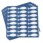 Serviettes en papier imprimé poissons