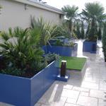 Terrasse sur le toit avec jardinières