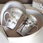 Coffret Coeur 2 Maxi-mugs Pin-Up