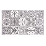 Tapis de bain en coton motifs carreaux de ciment 50x80