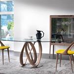 Salle à manger avec mobilier en bois design