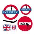 Stickers enfant Londres Kit Underground 30x27 cm