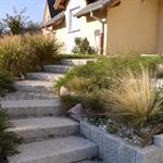 Escalier en marches granit brut