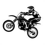 Stickers muraux Motocross 60x50 cm