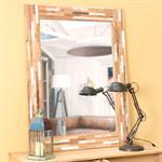 Miroir en bois blanchi H 120 cm AURAY