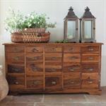 Cabinet de rangement en bois de sheesham massif L 162 cm Luberon