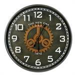 Horloge à rouages en métal noir D113