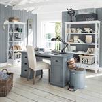 Bureau en pin gris L 150 cm Newport