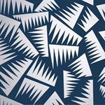 Papier peint Jer Bleu et argent - La Chance