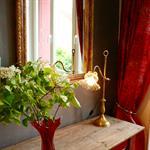 Ambiance baroque en rouge et or
