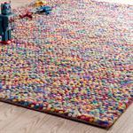 Tapis en laine multicolore 140 x 200 cm RAINBOW