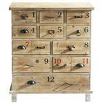 Cabinet de rangement en bois effet vieilli L 82 cm Anatole