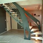 Escalier design acier Art Nouveau