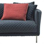 Coussin Gentry / Tissu - 45 x 40 cm - Moroso rouge