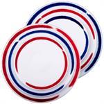 2 sets de 3 assiettes Porcelaine de Limoges décor ARTWORK