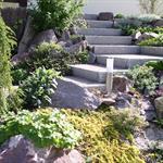 Escalier de rocaille