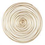 Déco murale spirale en métal doré D91