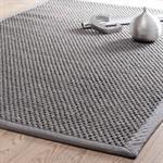 Tapis tressé en sisal gris 160 x 230 cm BASTIDE