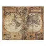 Toile imprimée carte du monde 73x93