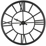 Horloge lumineuse en métal noir D