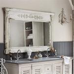 Miroir en sapin blanc 150x97