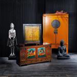 Cabinet de rangement indien en bois multicolore L 120 cm Lhasa
