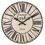Horloge en métal noir vieilli D