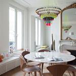 Salle à manger d'un appartement Haussmannien à Paris