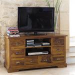 Meuble TV en bois de sheesham massif Luberon