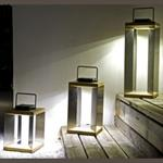 Lanterne Solaire TECK Inox SEL Les Jardins