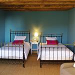 Chambre bleue à deux lits