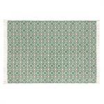 Tapis en coton motifs graphiques verts 140x200