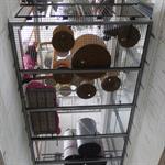 Terrasses intérieures en caillebotis métallique