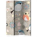 Paravent enfant pattern with birds multicolore 135x172