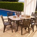 Salon de jardin de repas Amalfi-Bora design GROSFILLEX