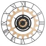 Horloge à rouages en métal noir D99