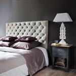 Tête de lit capitonnée en lin L 160 cm Chesterfield