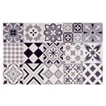 Tapis en vinyle motifs carreaux de ciment 50x80