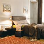 Tête de lit imitation cuir marron L 160 cm Sellier