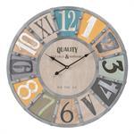 Horloge avec rivets D 60 cm EDWIN