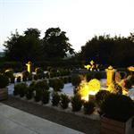 Jardin à la française avec sculptures