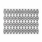 Tapis berbère noir et blanc 140x200