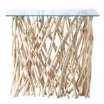Table console en teck et verre L 100 cm Rivage