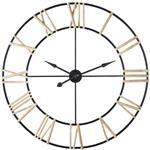 Horloge en métal noir chiffres en sapin D109