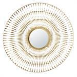 Miroir en métal doré torsadé 131x129